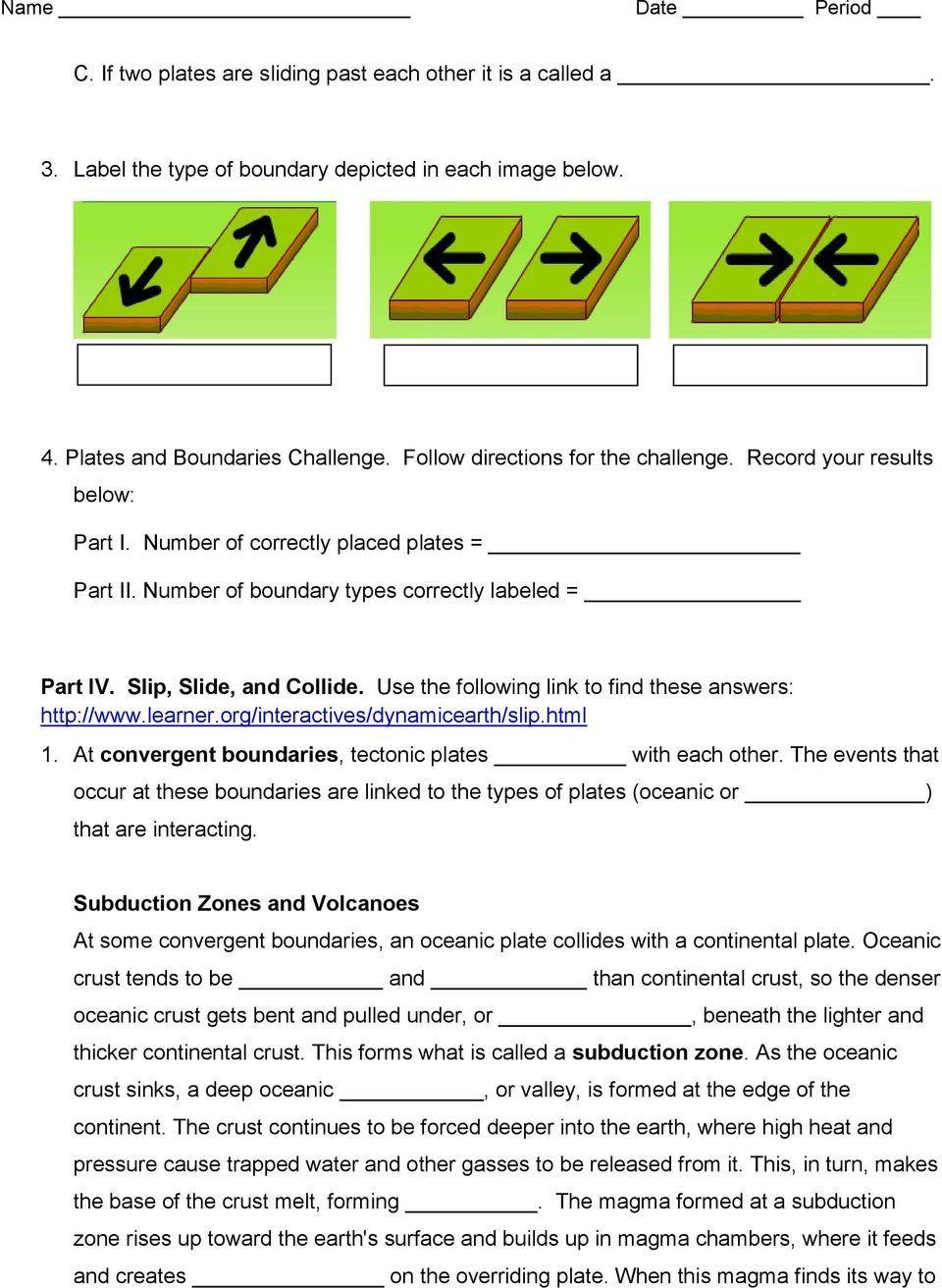 Plate Tectonics Worksheet 6th Grade Plate Tectonics Web Quest Pdf Free Download In 2020 Math Addition Worksheets 6th Grade Worksheets First Grade Math Worksheets