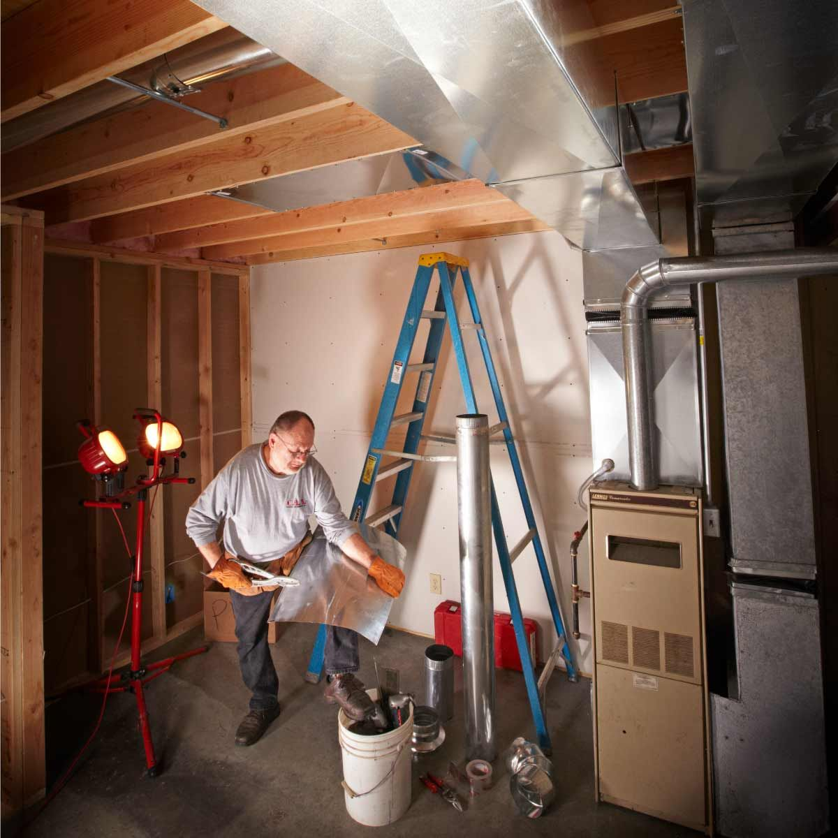 Round Ductwork Installation Tips Ductwork Installation Duct Work Hydronic Radiant Heat