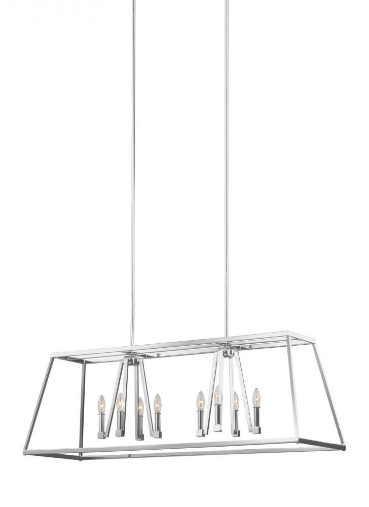 Feiss F3152 8CH Conant 8 Light Island Chandelier in Chrome