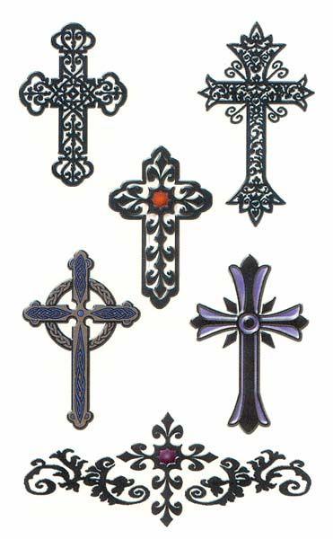 Feminine Cross Tattoos | ... of the actual tattoo sheet ...