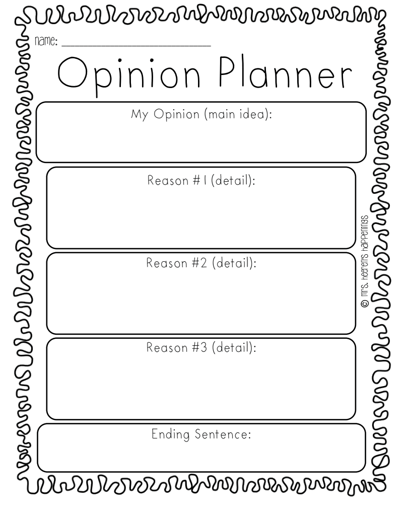Opinion writing pdf