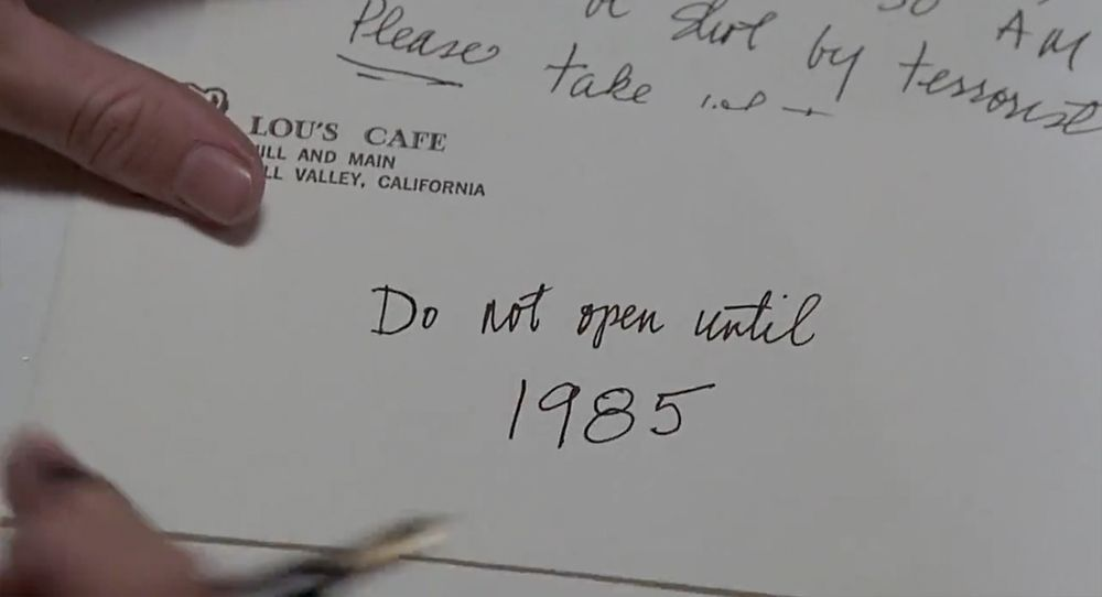 Back to the Future Script Martyu0027s Letter to Doc Party Ideas - letter in doc