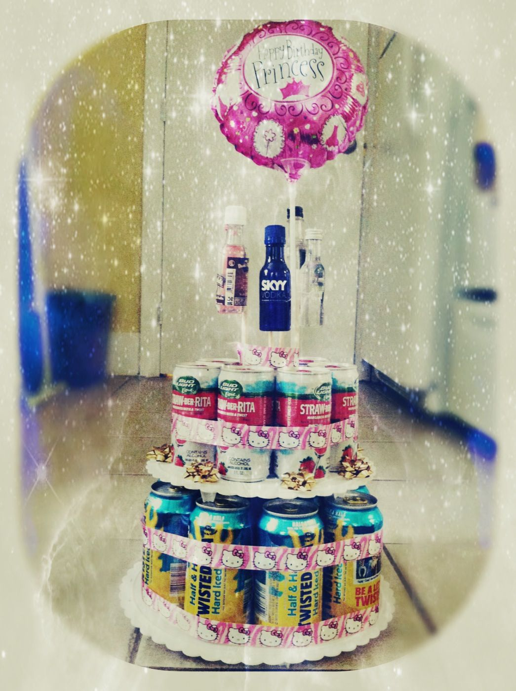 DIY Beer Cake Unique 21st Birthday Present
