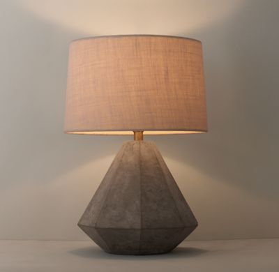 RH TEENu0027s Gannon Concrete Table Lamp Base:As Fascinating As Cut Stone, Cast  Concrete