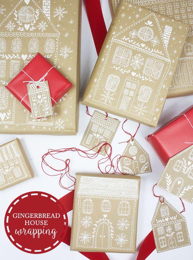 gingerbread house wrapping (alisaburke) Envuelto, Envolver regalos