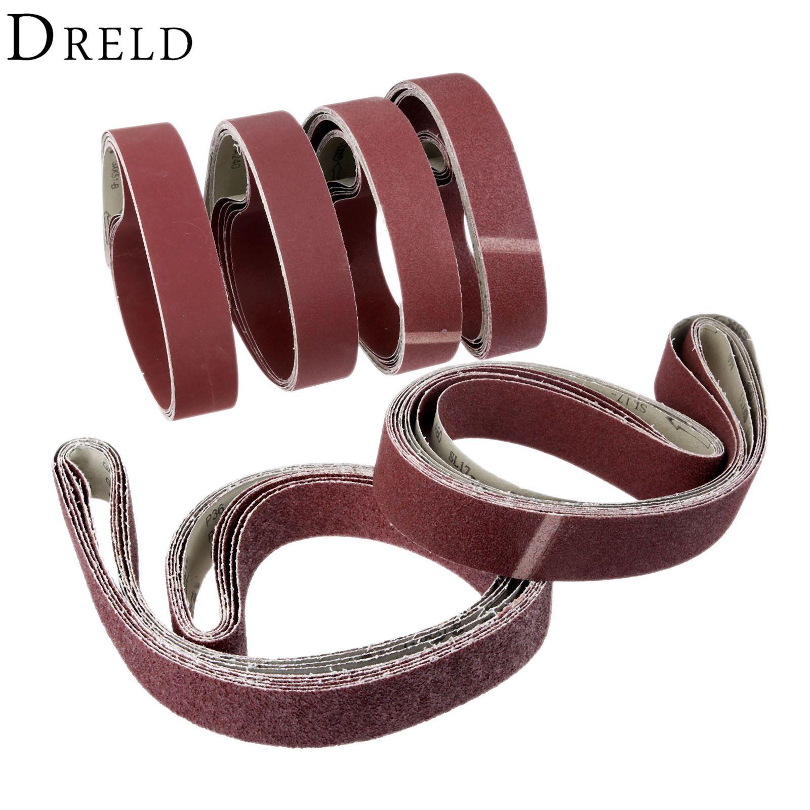 5pcs 50 1800mm Polishing Sanding Belt Aluminium Oxide Sandpaper Grinder Belt For Dremel Accessories 36 60 80 120 240 Dremel Accessories Dremel Leather Bracelet