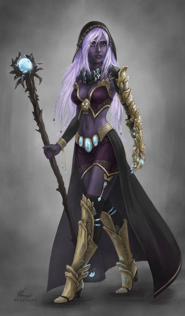 Angevere S Deviantart Gallery Dark Elf Fantasy Wizard Female Elf