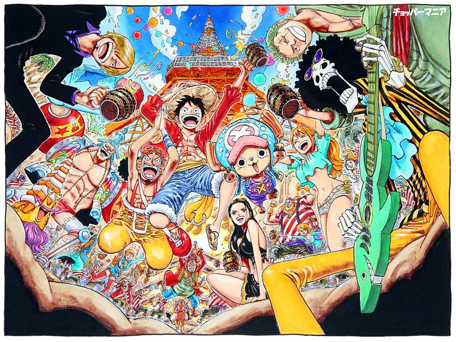 One Piece Tokyo Tower One piece manga, One piece main