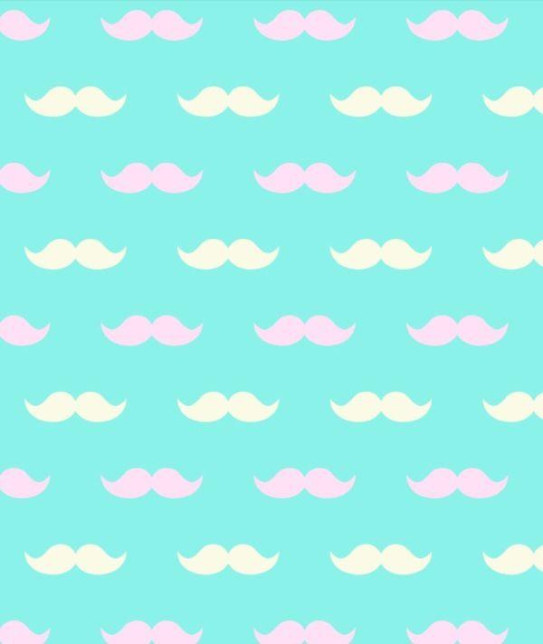 Cute Mustache Background 3 Mustache Wallpaper Screen Savers Wallpapers Cute Wallpapers
