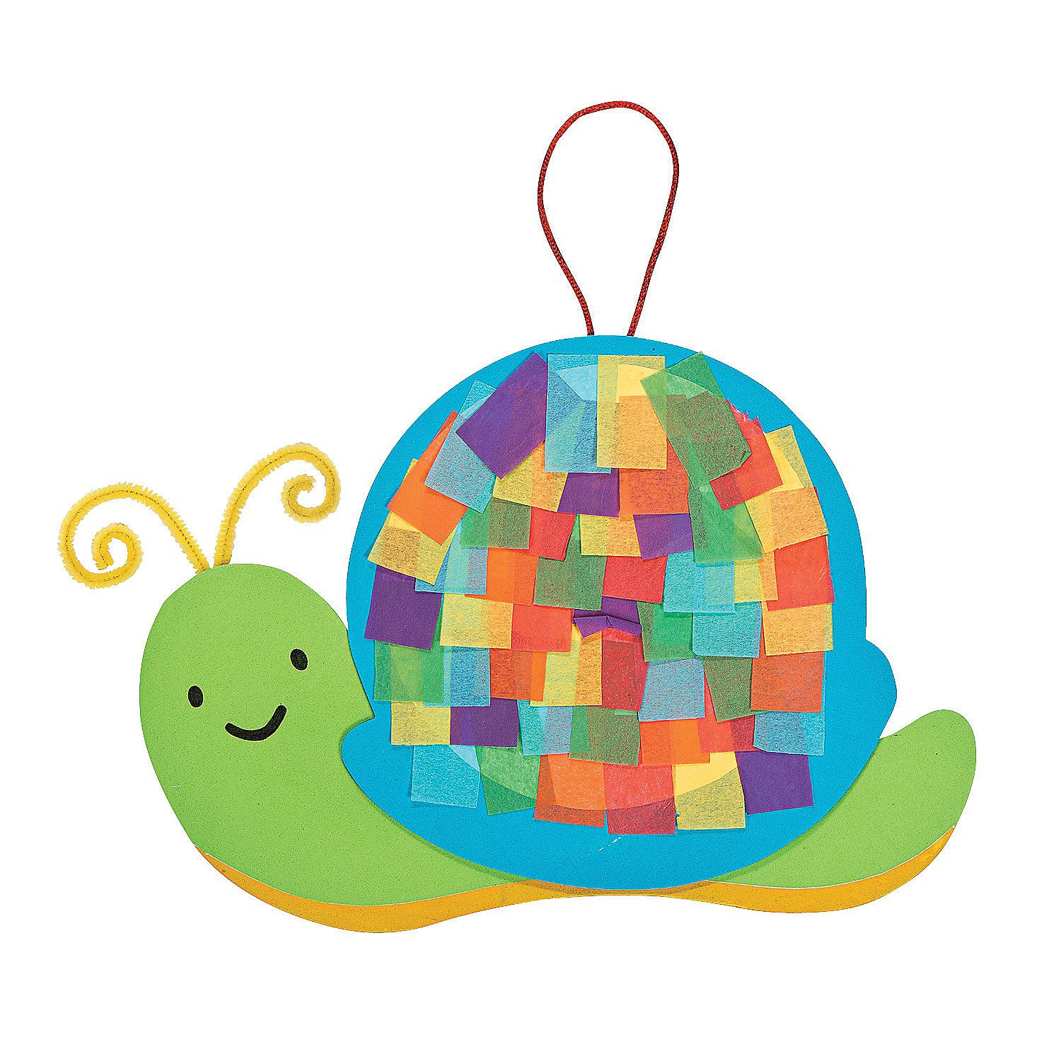 Colorful Snail Tissue Paper Craft