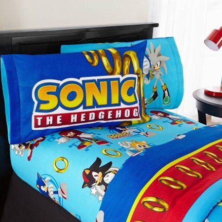 Sonic The Hedgehog Twin Bed Sheet Set Kids Sheets