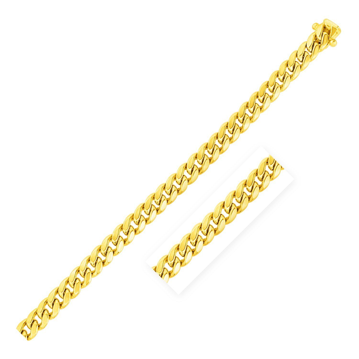 """Details about  /14kt 7.5/"""" Yellow Gold Shiny Open Heart Link Bracelet with Lobster Clasp"""