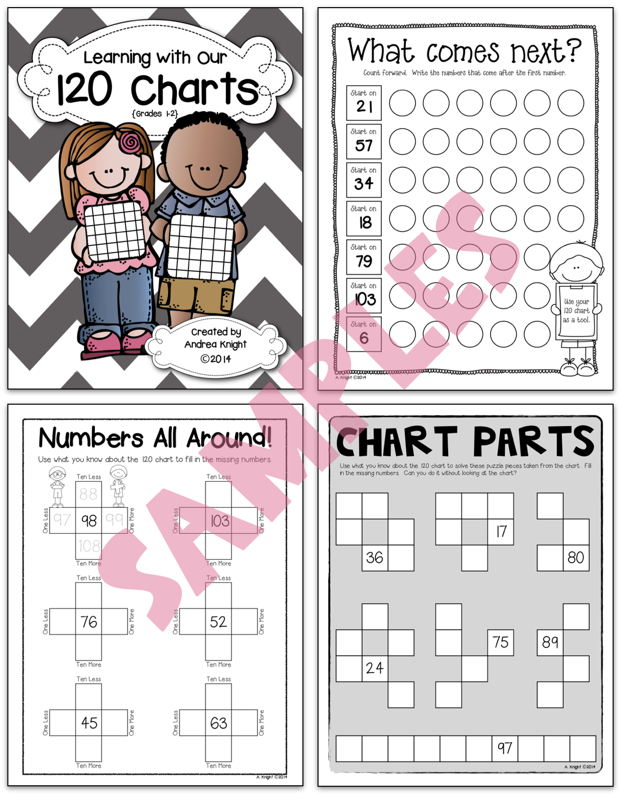 120 Charts Math Practice Worksheets For Grades 1 2