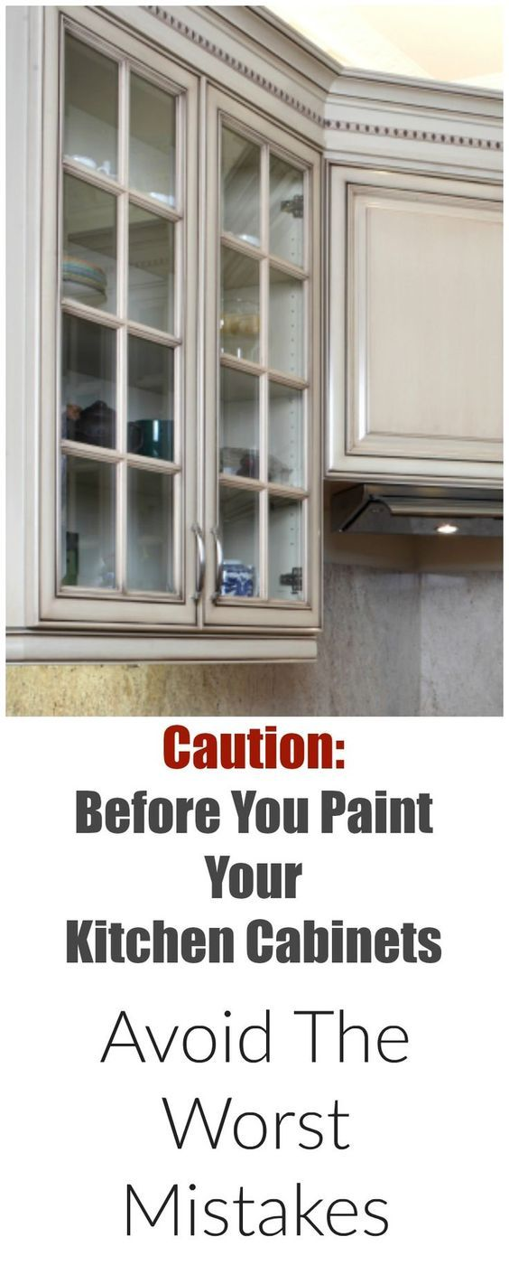 Mistakes People Make When Painting Kitchen Cabinets | Kreativ und ...