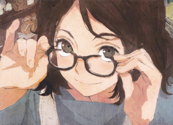 Anime Picture 4366x3154 With No 6 Karan No 6 Humi Artist Short Hair Highres Brown Hair Smile Absurdres Anime Anime Art Illustration
