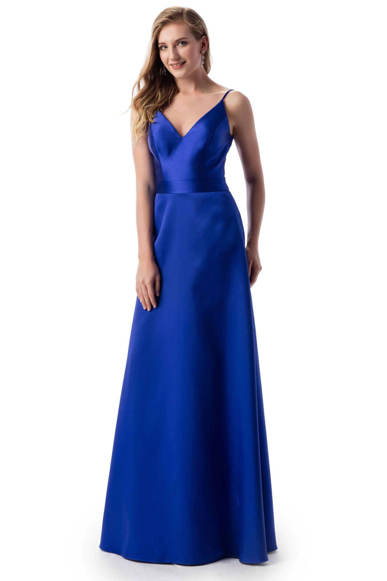 langes kleid für große größen blau venus | langes kleid