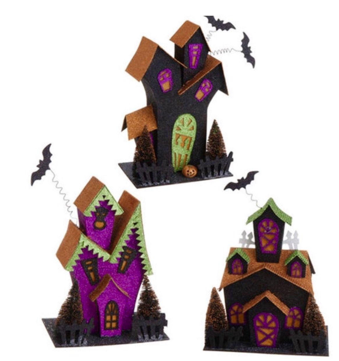 Halloween Putz Houses