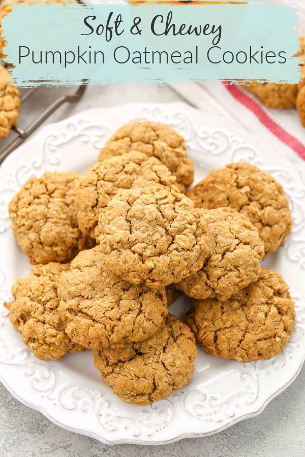 Pumpkin desserts remind us so much of the fall season. These delicious Pumpkin Oatmeal Cookies are no different. They are super soft, thick, chewy, and full of pumpkin flavor! These cookies make the perfect dessert for fall! #dessert #cookie #pumpkin #oatmeal #recipes #homemade #fall #livewellbakeoften #fallseason