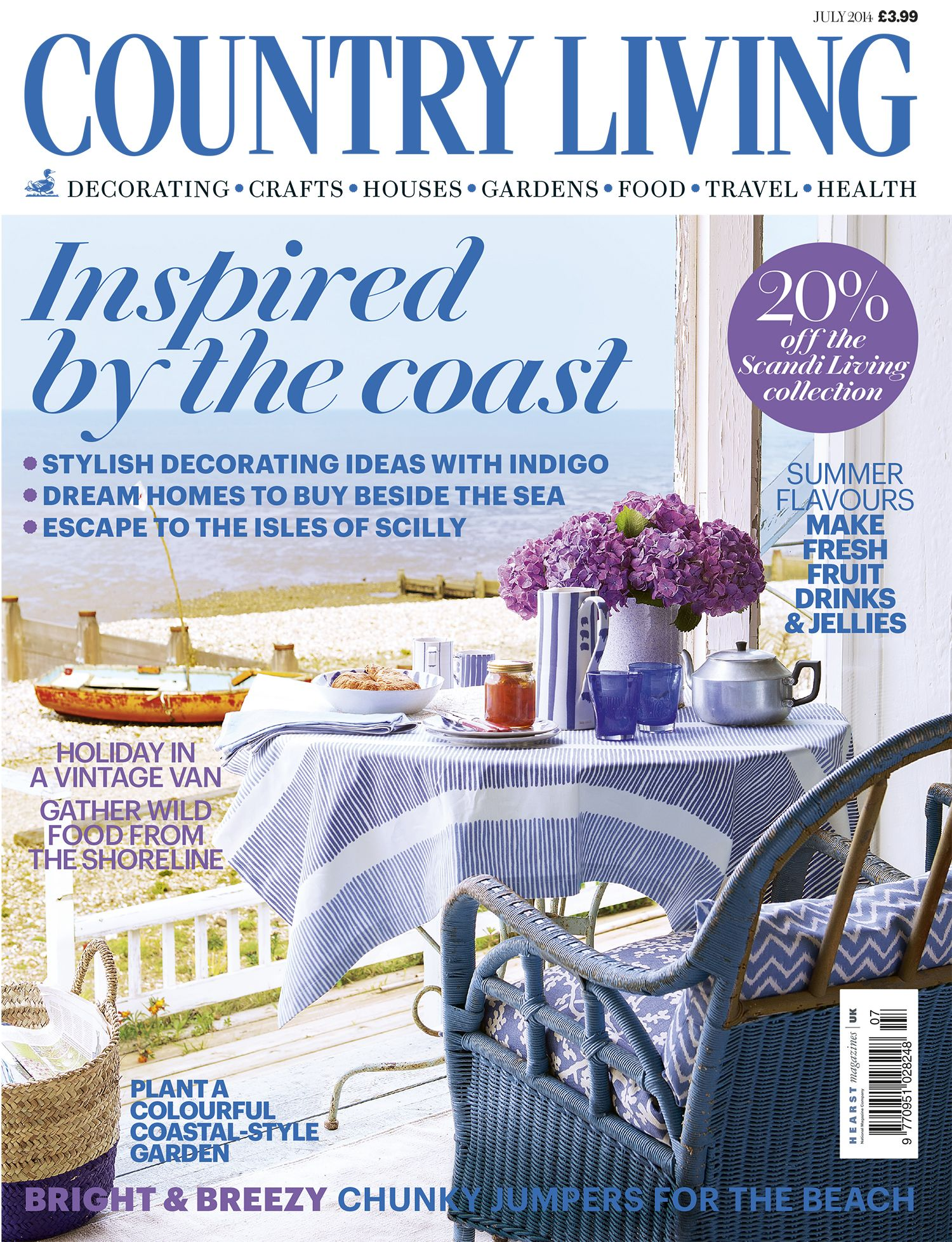 Country Living magazine July 2014 cover countryliving.co