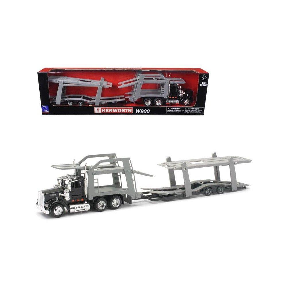 Kenworth W900 Kubota Dump Truck w// Construction Vehicles 9 pcs Playset