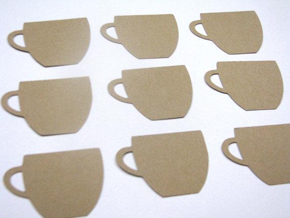 Taza de café en forma de conjunto de etiquetas por prettypackaging