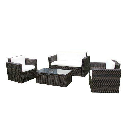 gartenmöbel garten lounge set sitzmöbel cannes in braun rattan ... - Gartenmobel Lounge Polyrattan