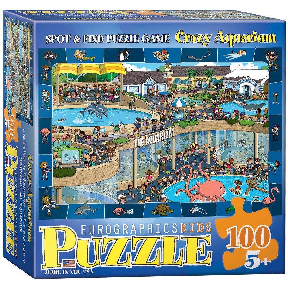 Crazy Aquarium Spot and Find Puzzle, 100