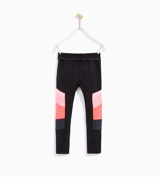 Image 5 of CROPPED TECHNICAL BLOCK TROUSERS from Zara