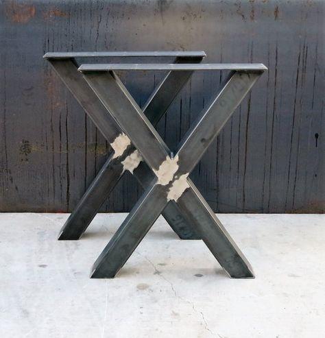 Industrial X Shape Metal Table legs 3x3 Tables