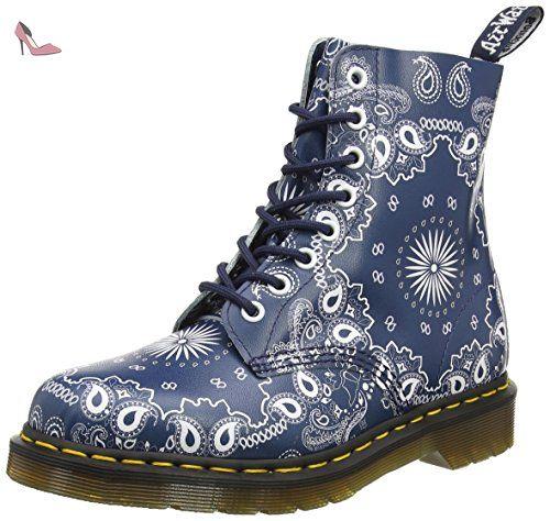 dr martens pascal bottes mixte adulte bleu navy white bandana backhand 37 eu chaussures. Black Bedroom Furniture Sets. Home Design Ideas
