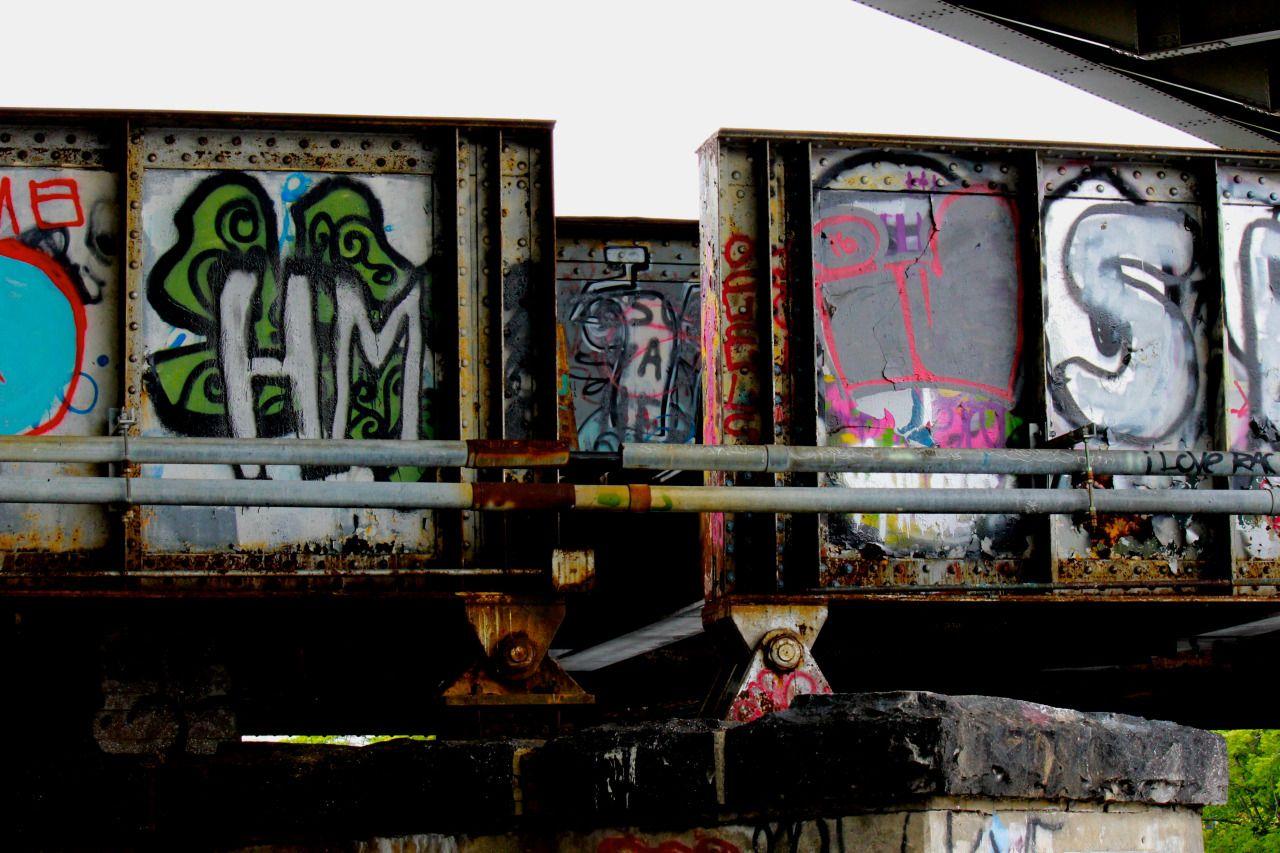 Windows of discovery. Boston, MA #streetart #boston #canon #abandonedbridge