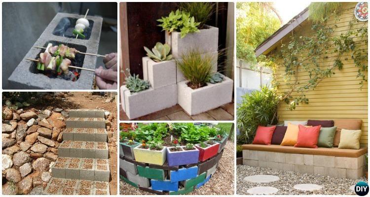Diy Cinder Block Garden Projects Ideas With Instructions Concrete Block Garden Planter Garden