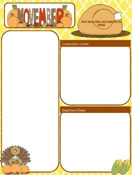 A Cute Editable Ppt Newsletter Template I Use This For Our Monthly - Daily newsletter template