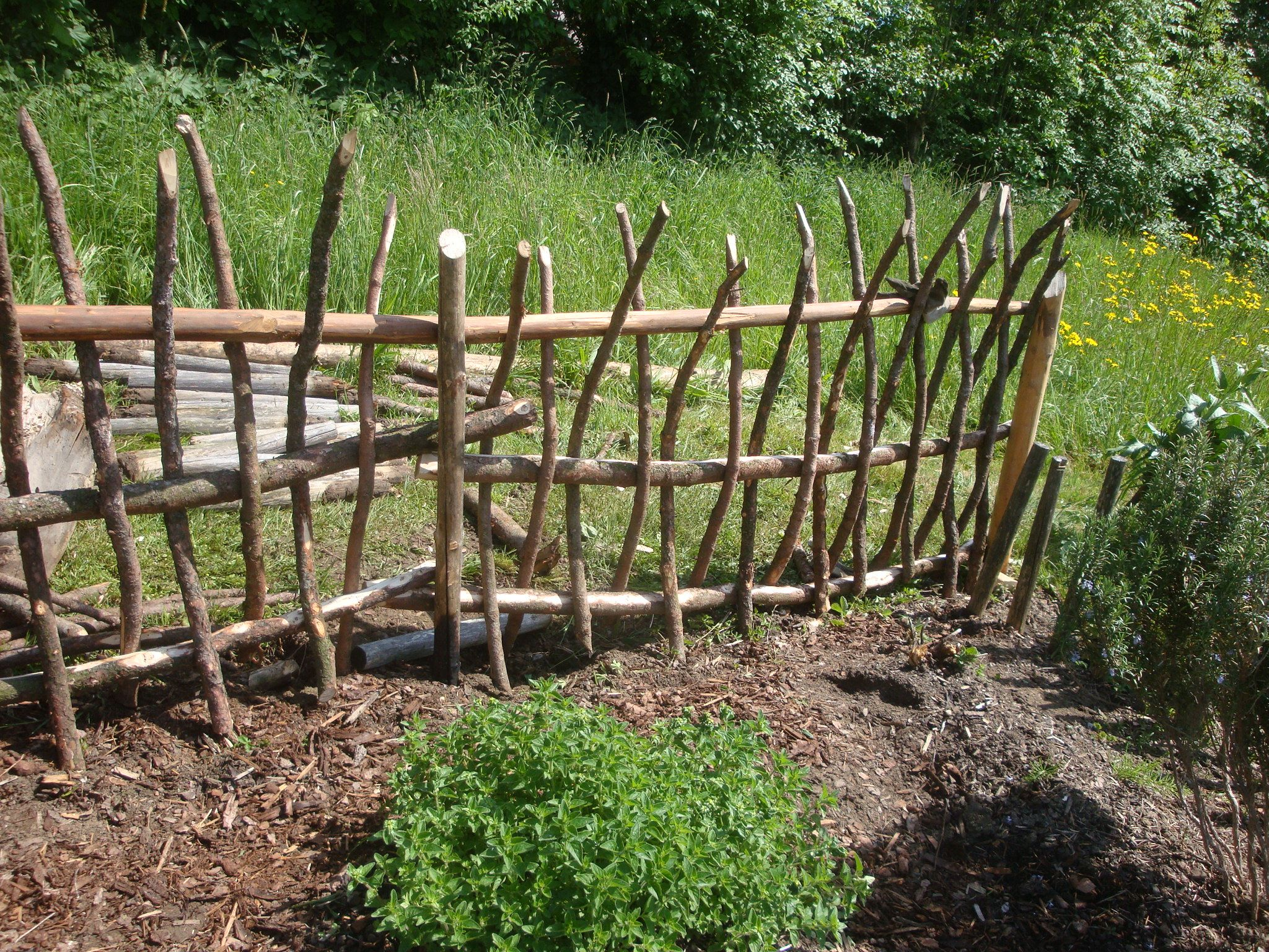 Holzzaun Gartengestaltung Haus Pinterest