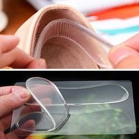 10 Pair Gel Silicone Heel Grip Back Liner Shoe Insole Pad Foot Care Protector