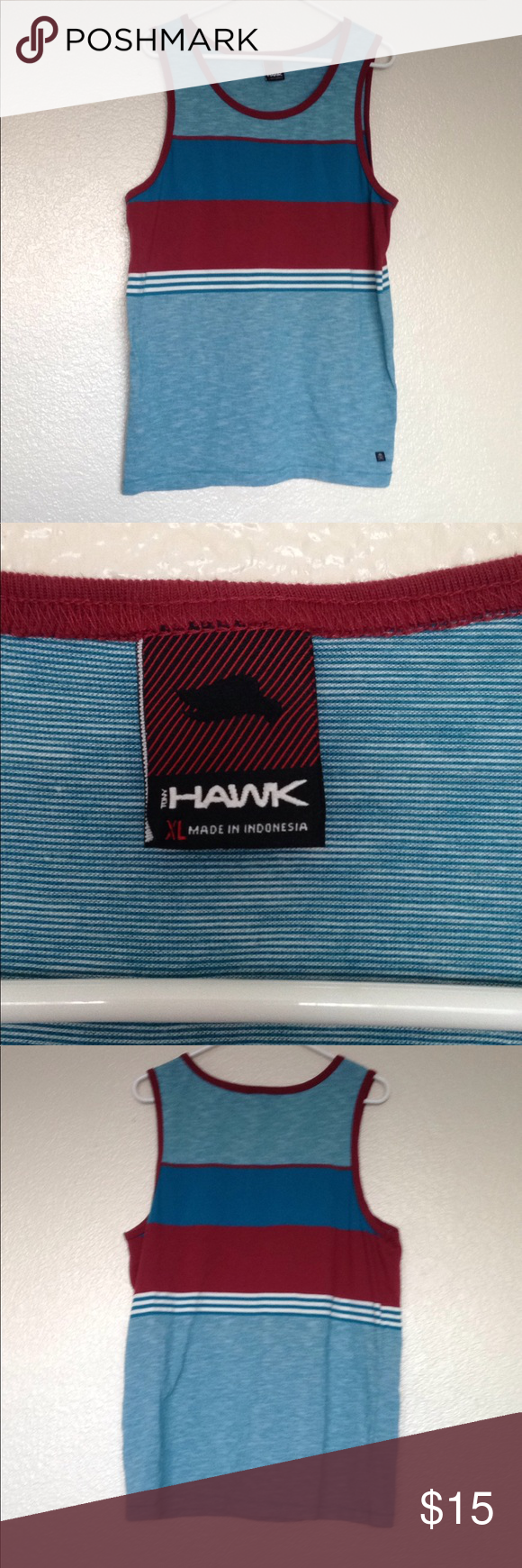 030f5027cf9b57 Tony Hawks size men s extra-large blue tank top Tony hawk men s size extra  large tank top! Blue and red stripes! Shirts Tank Tops