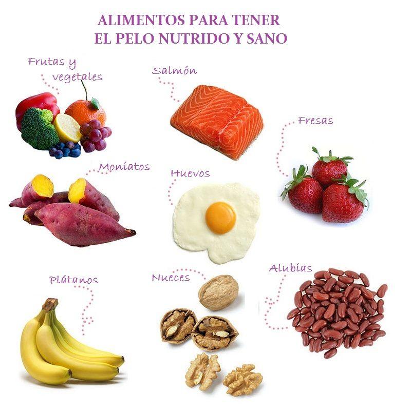 Algunos De Los Alimentos Que Nos Ayudan A Tener Un Cabello Más Fuerte Y Sano Nutrición Alimentos Sanos Comida Saludable