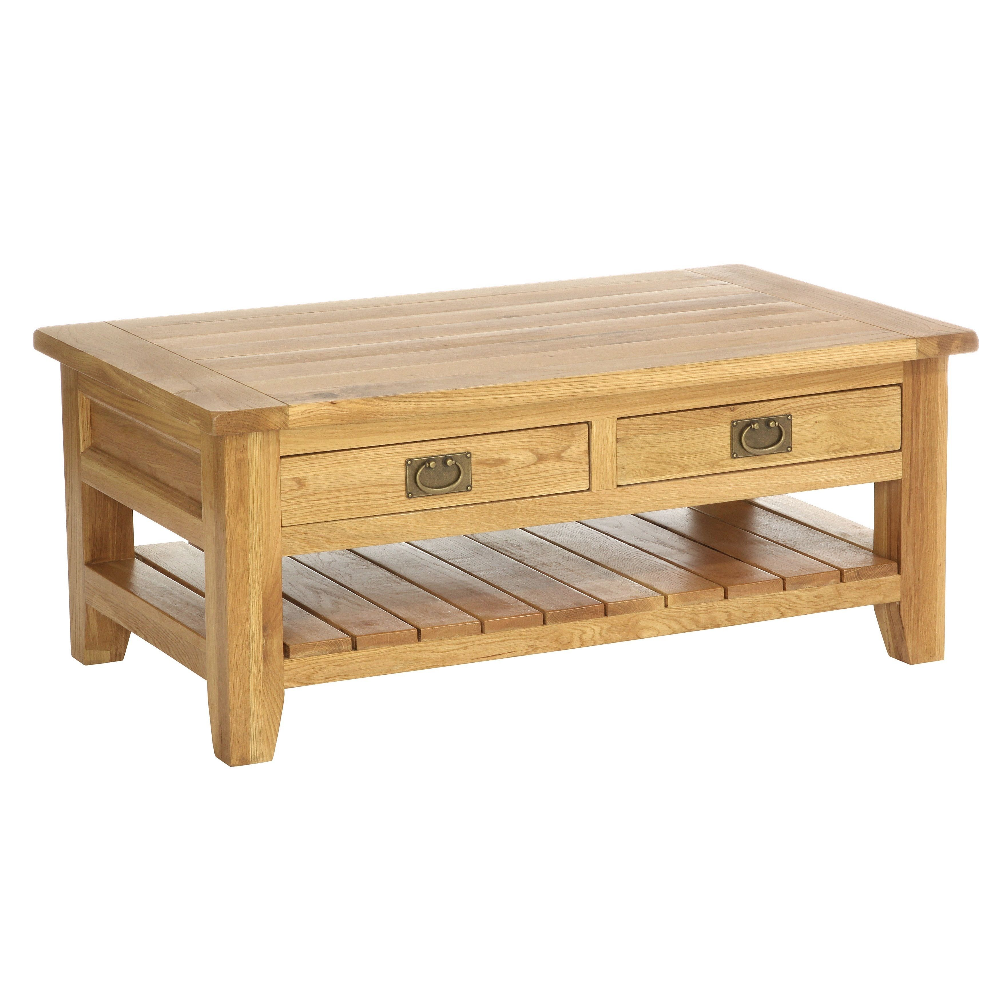 The Vancouver coffee cocktail table with two drawers has been