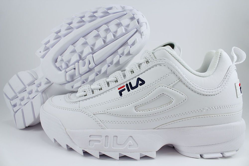 Fila Disruptor Ii 2 White Peacoat Blue Red Cross Training Trainer Us