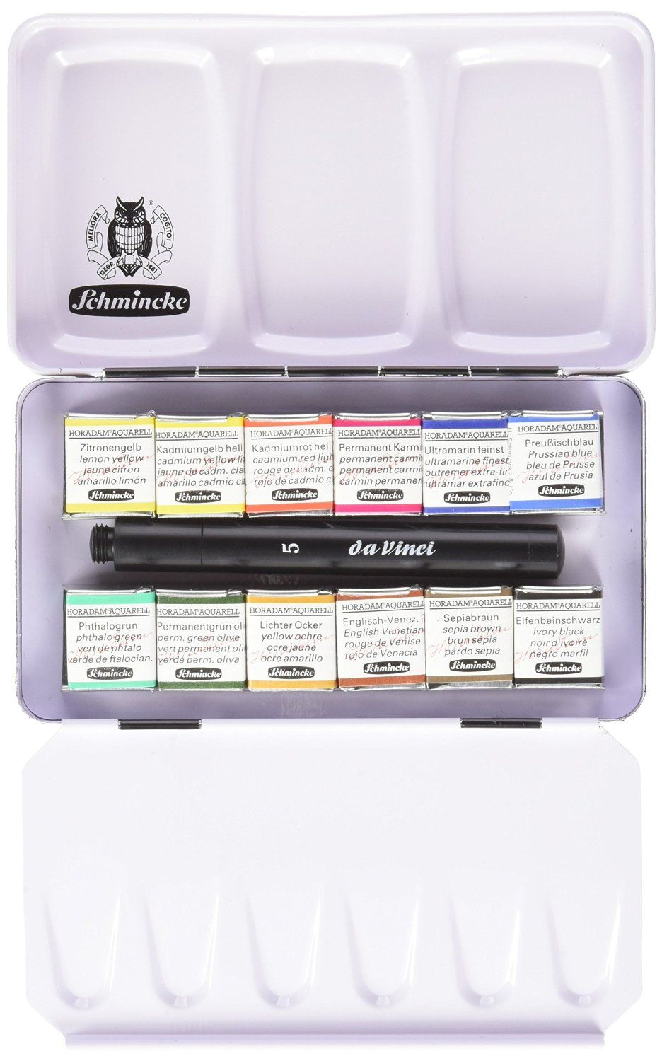 Amazon Com Schmincke Half Pan Watercolor Pocket Set A Compact