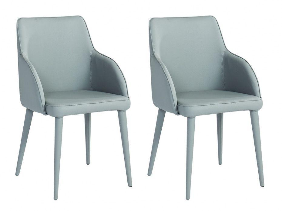 Lot De Chaises Design Avec Accoudoirs Lubana Simili Gris Chaise Accoudoir Table A Manger Design Chaise Design