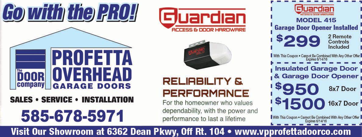 Profetta Overhead Garage Door Opener And Installation Save Now