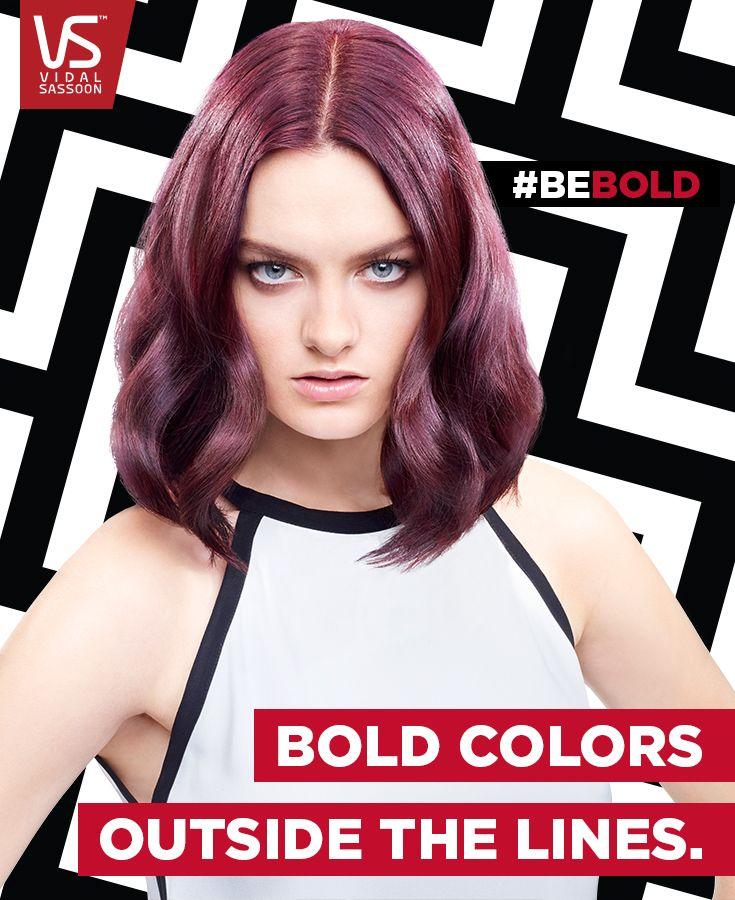 Push boundaries with a bold purple hair color like Vidal Sassoon Pro Series Deep Velvet Violet.