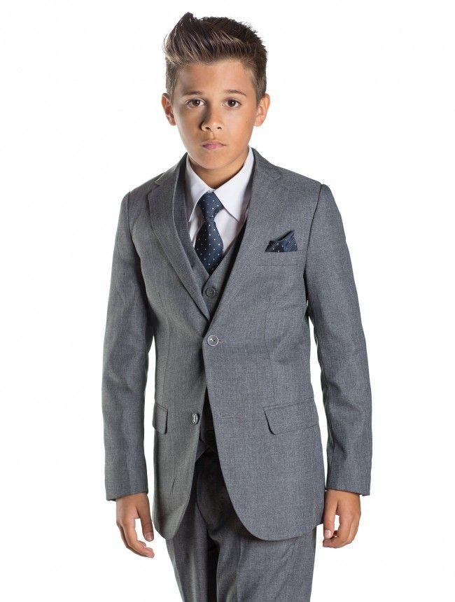 a9e93d0877 Boys grey slim fit suit - Philip