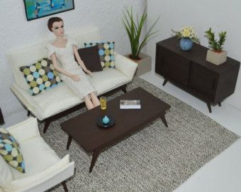 1/6 scale living room diorama for Silkstone Barbie-, Blythe-, Fashion Royalty-, FR2, Momoko-, Pullip- dolls etc.