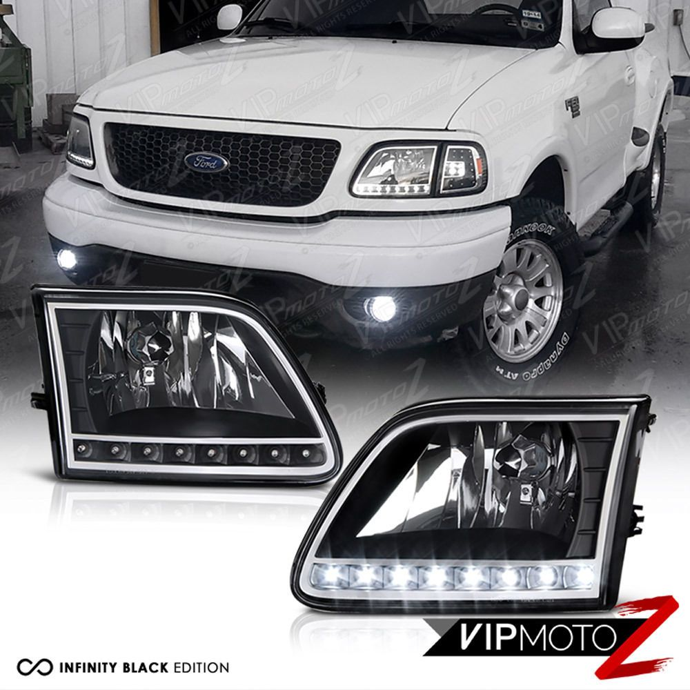 1997 2002 Ford Expedition 97 03 Ford F150 Black Crystal Led Front Headlights Vipmotoz Ford Expedition Ford F150 Accessories Ford F150
