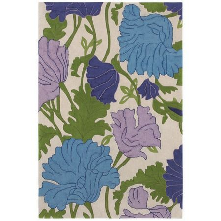 Contemporary Garden Rug in Purple from Shaw Rugs at Joss and Main. Buying it for a client's bedroom.