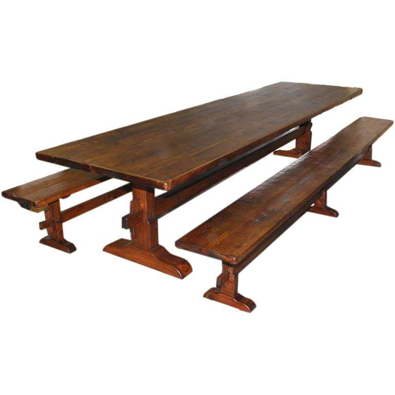 Cool Trestle Table Benches In Reclaimed Pine Custom Made By Gmtry Best Dining Table And Chair Ideas Images Gmtryco