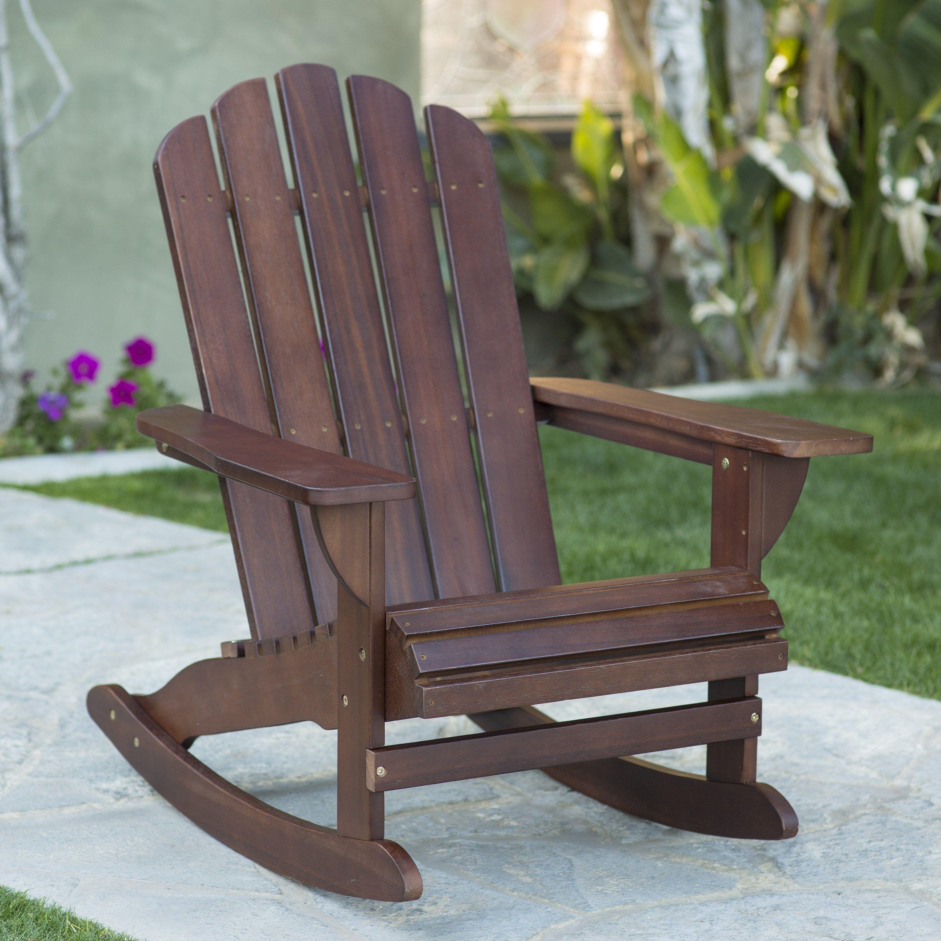 Belham Living Shoreline Adirondack Rocker Chestnut Brown Www Hayneedle Com Wooden Rocking Chairs Porch Chairs Restoration Hardware Dining Chairs