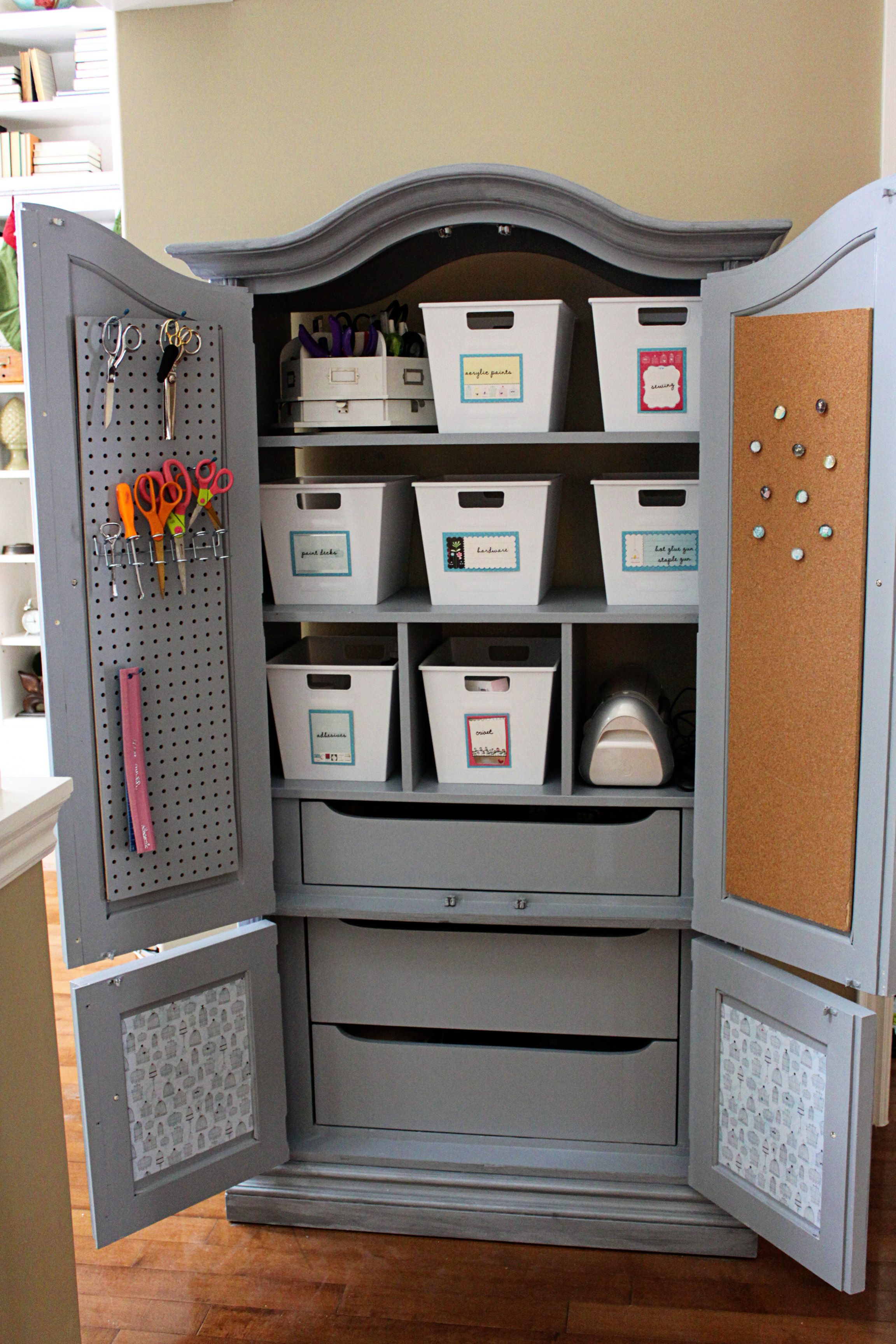 real simple craft armoire family room spring cleaning ideas real families real conversations
